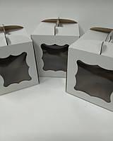 Коробка для тортов 25х25х30 см, из гофрокартона с окном