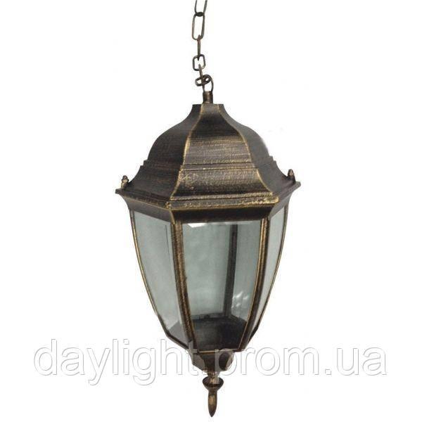 Подвесной уличный светильник на цепочке античное золото Lemanso PL5105