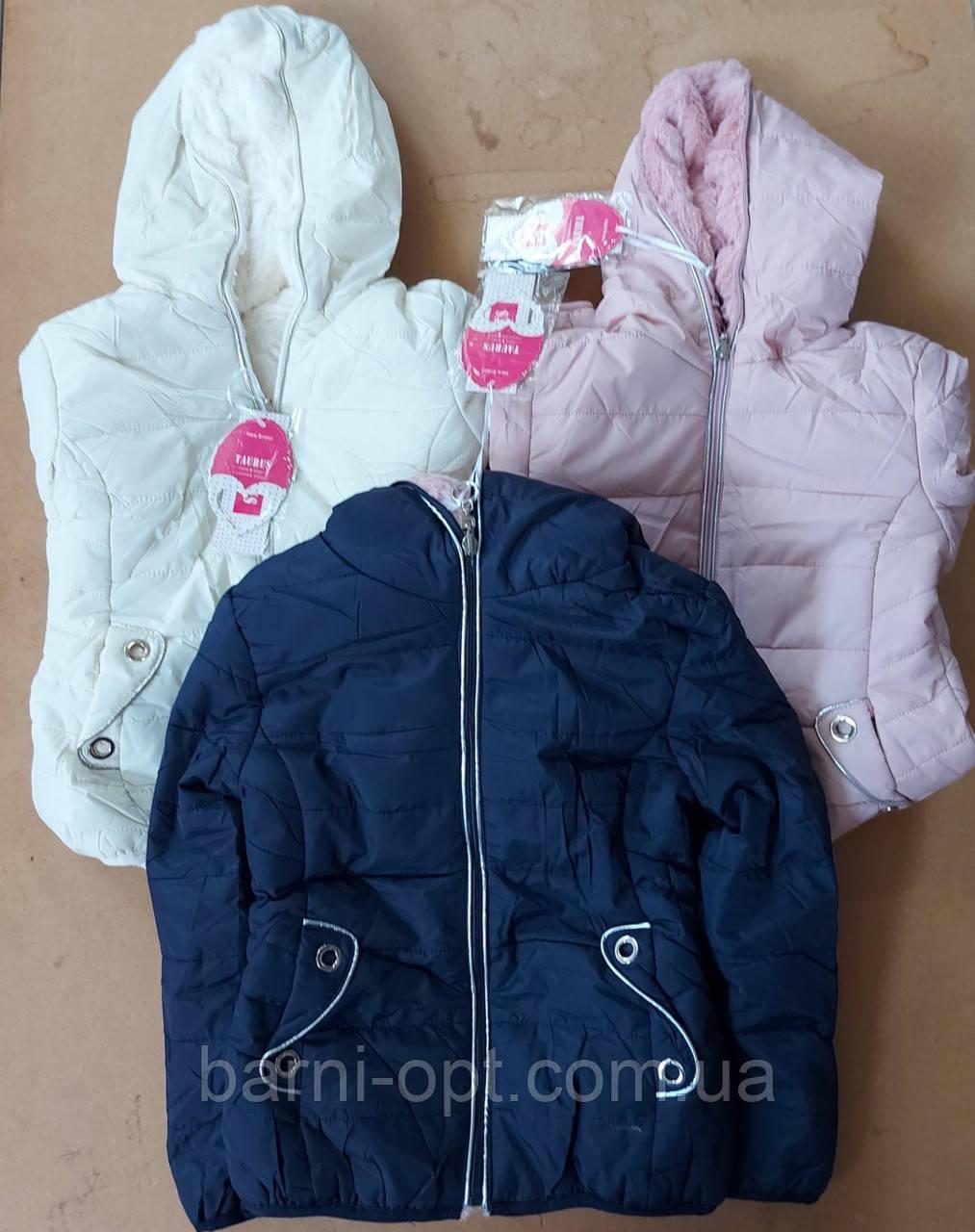 Куртки двухсторонние на девочку оптом , Taurus, 4-12 рр