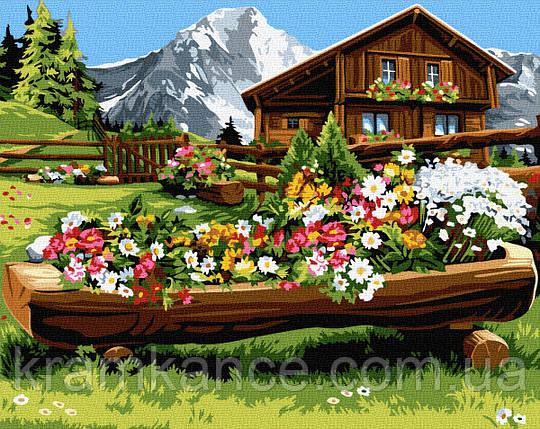 """Картина по номерам """"Квітуча місцина в горах"""" GX32156,, фото 2"""