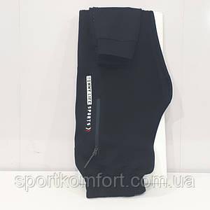 Турецькі спортивні трикотажні штани чорні TOMMY LIFE 80 бавовни