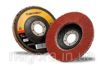 Лепестковый шлифовальный круг 3M™ 967A Cubitron™ II ø125мм*22мм 60+ конический