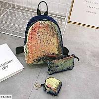 """Рюкзак женский 3 в 1 экокожа (28 x 24 см) """"Milanashop"""" 2P/NR-845"""