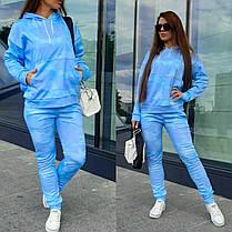 Костюм женский спортивный кофта и штаны облака, фото 2