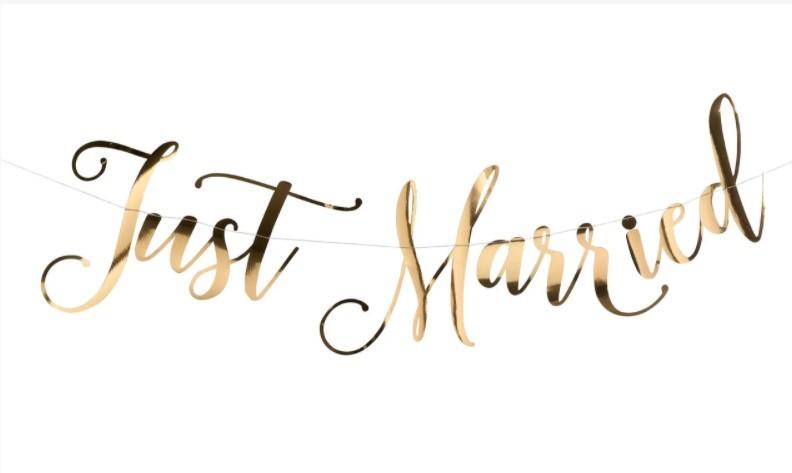 Гирлянда-растяжка на девичник Just Married