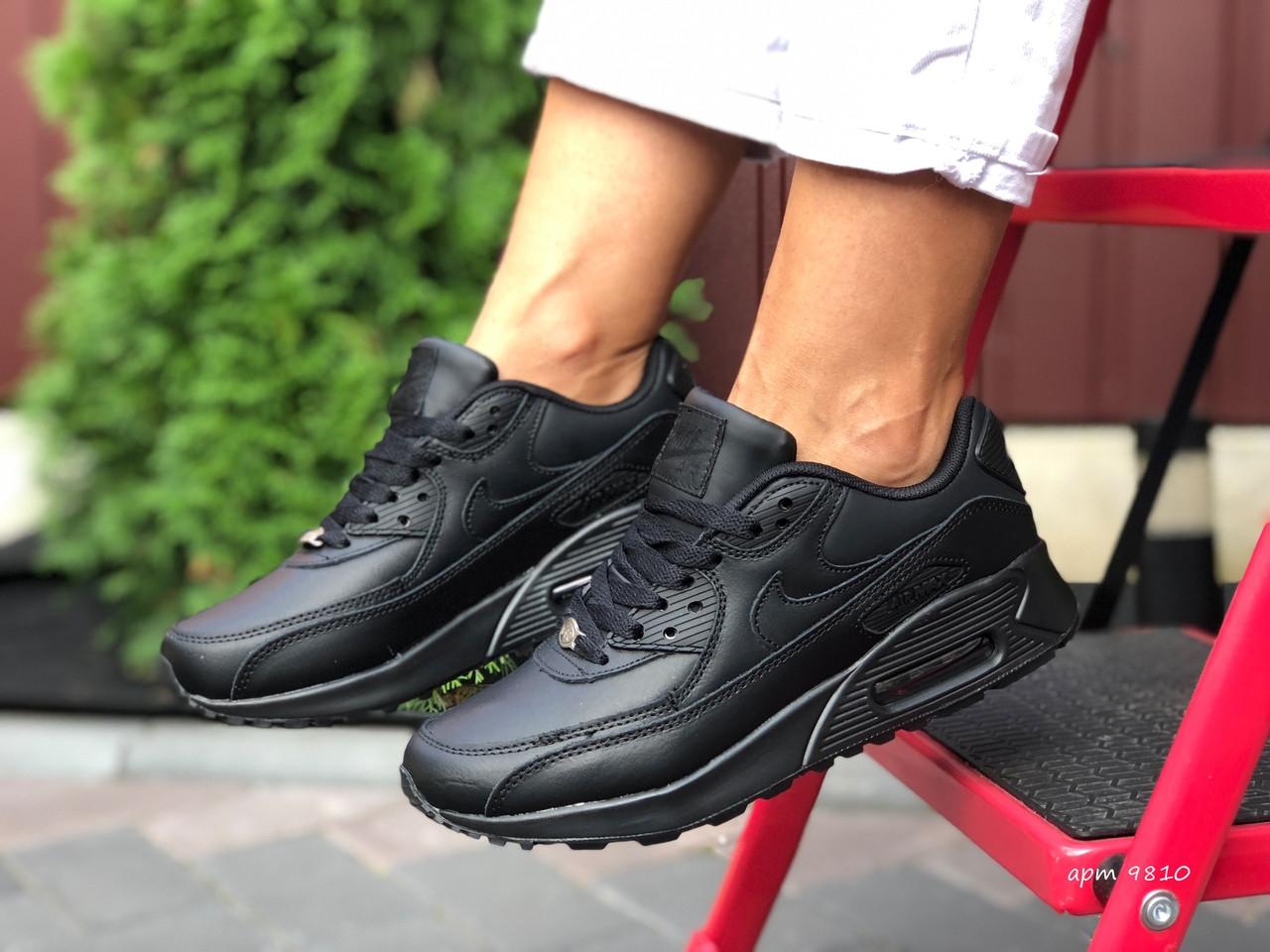 Жіночі кросівки Nike Air Max 90 (чорні) 9810