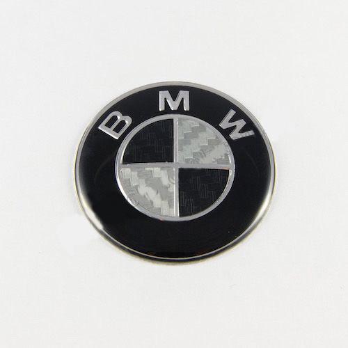 Эмблема BMW черно-белый карбон 45мм (Руль)