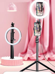 Кольцевая лампа для блогеров 26 см. с штативом 170 см Ulanzi