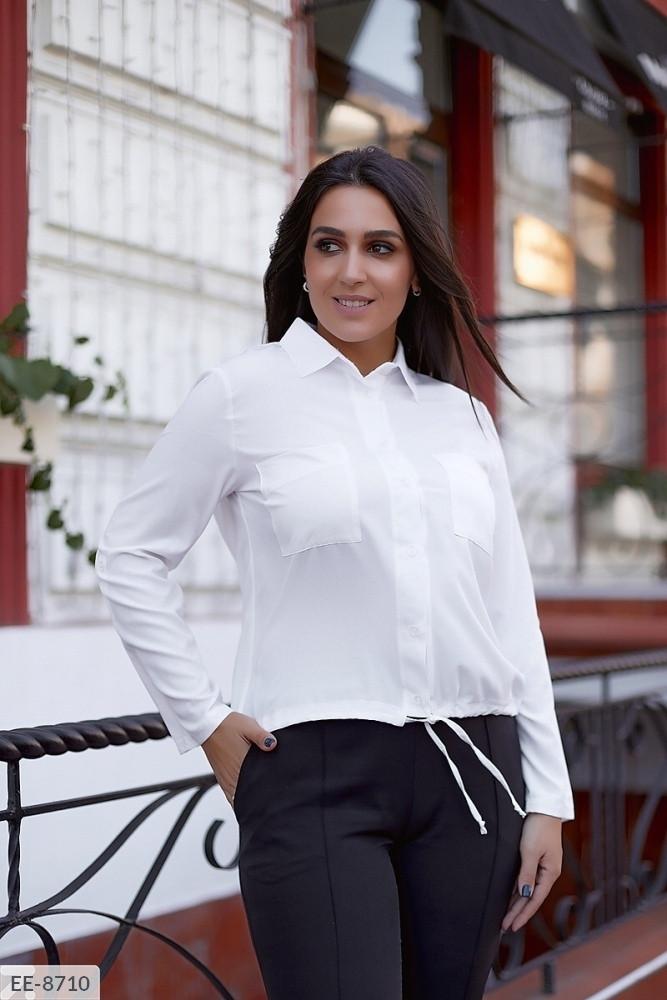 Жіноча ділова сорочка з софту