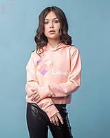 Детский свитшот для девочки DI&LI Турция LIKEE Розовый