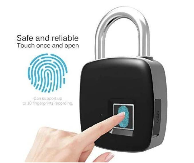 Умный замок с отпечатком пальца водонепроницаемый Lock AnyTek P3 Black