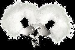 (мятая упаковка) Наручники металлические с белой отделкой Adrien Lastic Handcuffs White