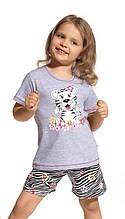 Детская пижама для девочки CORNETTE Польша TIGER серая