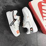 Чоловічі кросівки Nike Air Force 1 Just Do It (біло-чорні) 9812, фото 4