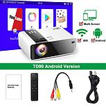 Мини-проектор HD TD90 Native 1280 x 720P LED Версия для Android WiFi Кинотеатр 3D, фото 3