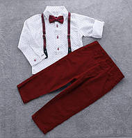 """Классический нарядный костюм для мальчика с бабочкой """"Джентльмен"""", фото 1"""