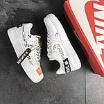 Мужские кроссовки Nike Air Force 1 Just Do It (белые) 9813, фото 4
