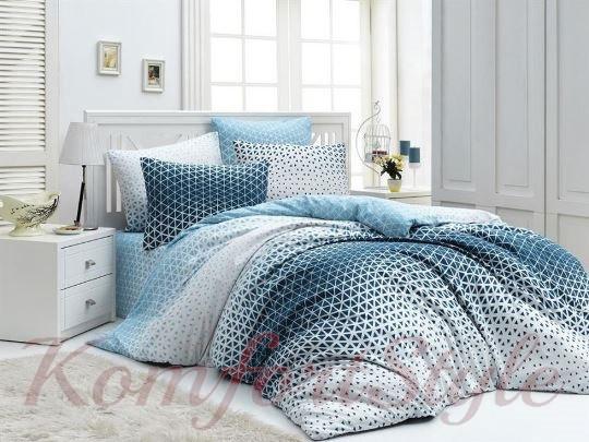 Комплект постельного белья LIGHTHOUSE 4 сезона бязь голд BLAZE синий 200*220/2*50*70