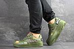Чоловічі кросівки Nike Air Force 1 Just Do It (темно-зелені) 9816, фото 3