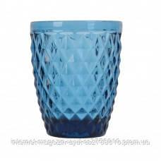 """Пара стаканов """"Rhombus small"""" 250мл синее стекло"""