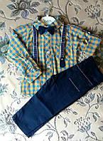 """Классический нарядный костюм на мальчика с бабочкой """"Джентльмен"""" р. 1 (на годик рост 80, 86)"""