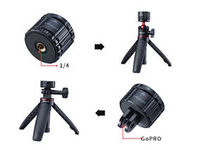 Магнитный быстросъемный адаптер GoPro для экшн-камеры Ulanzi GP-4, фото 3