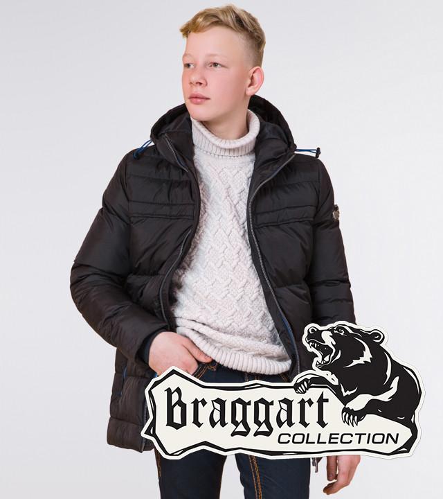Braggart Kids   Детская куртка на зиму 65122 черная