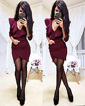 Платье мини обтягивающее юбка тюльпан и декольте, фото 2