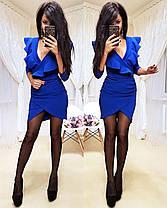 Платье мини обтягивающее юбка тюльпан и декольте, фото 3