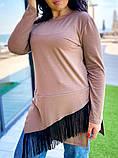 Женская теплая кофта джерси с начесом размер: 42-44, 46-48, 50-52, 54-56, фото 6