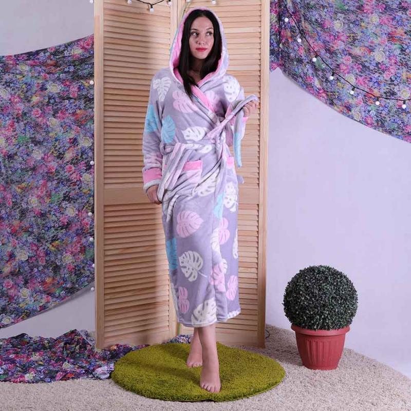 Красивый женский махровый халат на запах