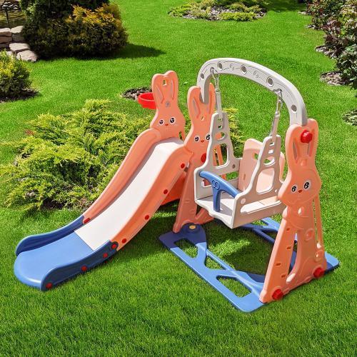 Горка-качель игровая для детской площадки, 141*142*110 см, WM19072-8