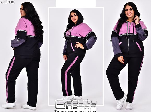 Спортивний костюм двунітка у великому розмірі Minova Розміри: 54.56.58.60.62.64.66.68.70.72, фото 2