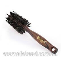 Щетка-брашинг для волос деревянная с натуральной щетиной  Salon Professional 2272fm, фото 2