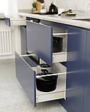 Кухня без ручок з фасадами з пластику на основі МДФ довільної конфігурації. На фото - 2,4 м (пряма кухня), фото 5