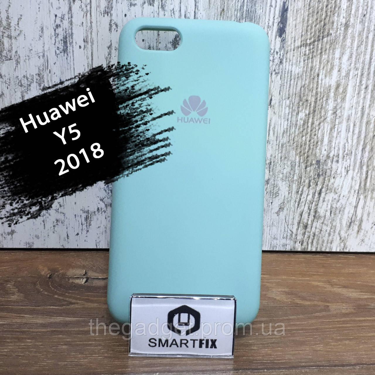 Силиконовый чехол для Huawei Y5 (2018) (DRA-L21) Soft Бирюзовый