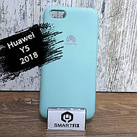Силиконовый чехол для Huawei Y5 (2018) (DRA-L21) Soft Бирюзовый, фото 1