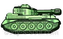 Пластикова форма 716 - Танк профіль