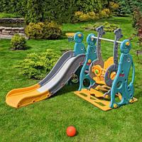 Гірка-гойдалка ігрова для дитячого майданчика, 147*178*108 см, WM19020-5