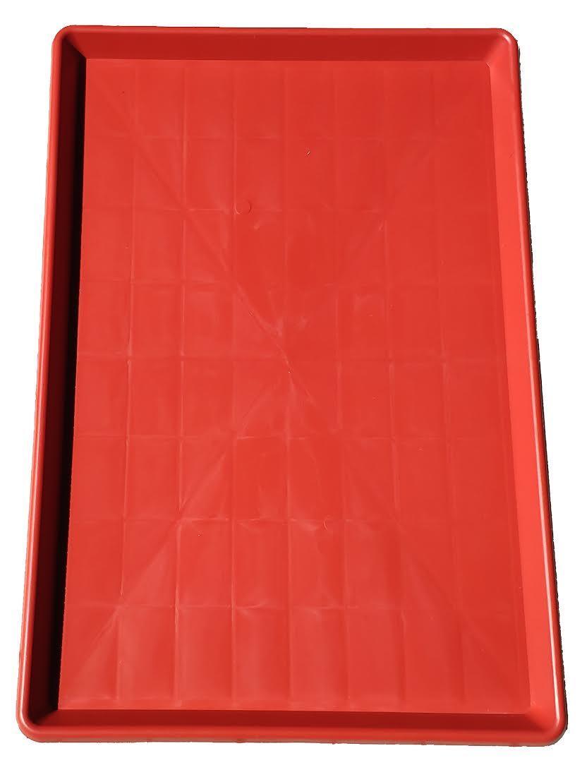 Поддон пластиковый Н-Т 60х90,2х4 красный