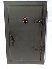 Дверца для коптилки утепленная, печная дверка в коптильню с термометром 102812