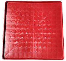 Поддон пластиковый Н-Т 68,5х68,5х2,2 красный