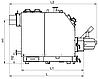 Пеллетный комбинированный котел Kronas Prom Pellets 50 кВт с автоматической и ручной подачей топлива, фото 3