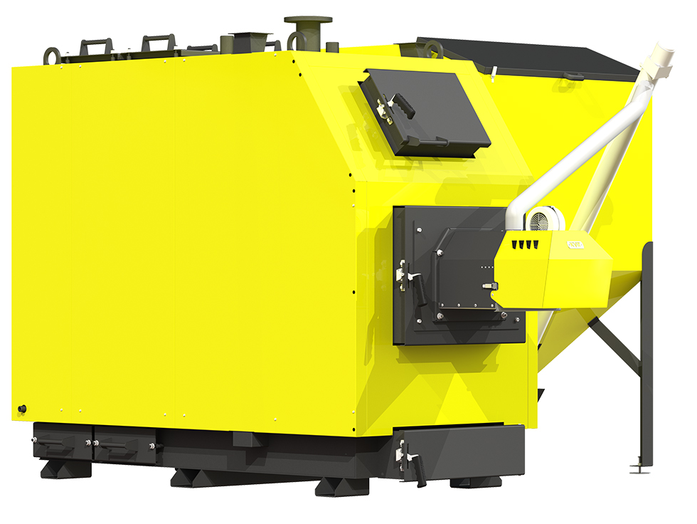 Пеллетный комбинированный котел Kronas Prom Pellets 50 кВт с автоматической и ручной подачей топлива