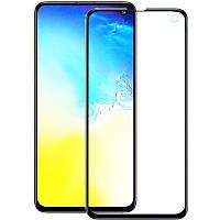 Противоударное защитное 2,5D стекло Epik XD + NEW для Samsung Galaxy S10e Прозрачный / Черный
