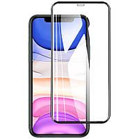 """Противоударное защитное 2,5D стекло Epik XD + NEW для Apple iPhone 11 Pro (5.8"""") / X / XS Прозрачный / Черный"""