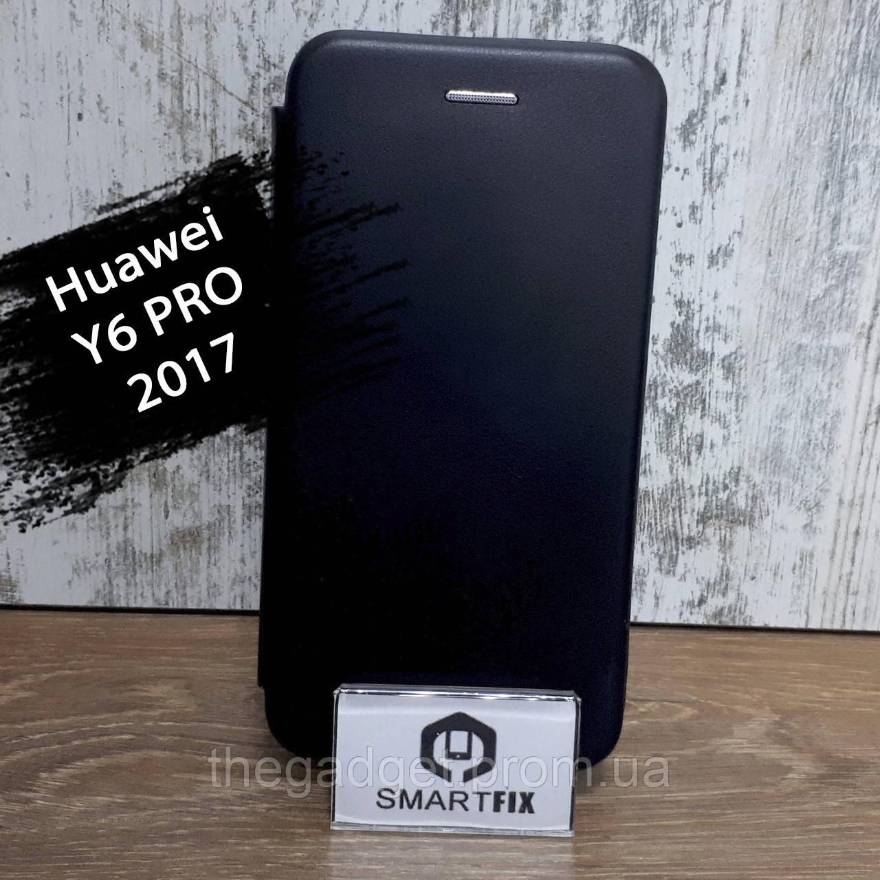 Чехол книжка для Huawei Y6 PRO (2017) / Nova Lite 2017 / P9 Mini (SLA-L02) G-Case Черный