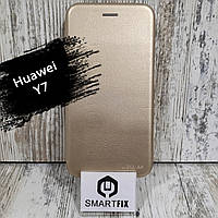 Чехол книжка для Huawei Y7 (TRT-LX1) G-case Золотой, фото 1