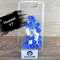 Силіконовий чохол з малюнком для Huawei Y7 2017 (TRT-LX1) Квіти