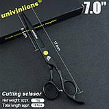 """7"""" дюймов комплект 3 шт. профессиональных ножниц  для стрижки домашних животных для груминга Univinlions, фото 2"""